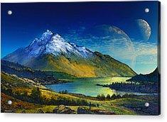 Highland Home Acrylic Print by David Jackson