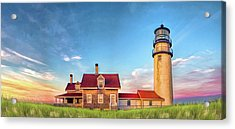 Acrylic Print featuring the painting Highland Lighthouse by Christopher Arndt