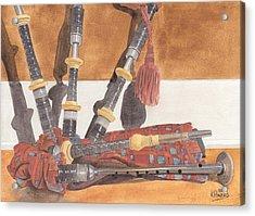Highland Pipes Acrylic Print