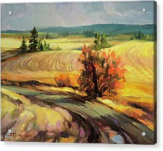 Acrylic Print featuring the painting Highland Road by Steve Henderson