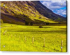 Acrylic Print featuring the photograph Highland Way I by Steven Ainsworth