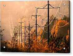Acrylic Print featuring the photograph highline shining in the soft light of the evening Sun by Vladimir Kholostykh