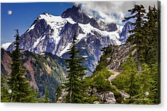 Hike To See Mt. Baker Acrylic Print