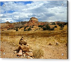 Acrylic Print featuring the photograph Hiking Ghost Ranch New Mexico by Kurt Van Wagner