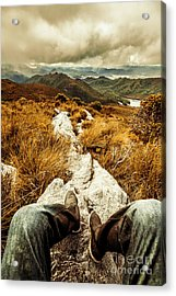 Hiking The Mount Sprent Trail Acrylic Print