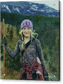 Hiking The White Mountains Acrylic Print