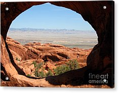 Hiking Through Arches Acrylic Print by David Lee Thompson