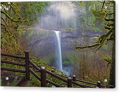 Hiking Trails At Silver Falls State Park Acrylic Print