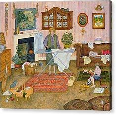 Hilda Nekudas Ironing Day Acrylic Print by Ditz