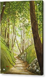 Hiling Path Acrylic Print by Charles Hetenyi
