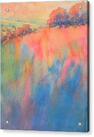 Hill Country Abstract No 1 Acrylic Print by Virgil Carter