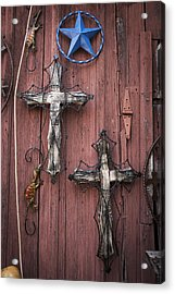 Hill Country Crosses Acrylic Print