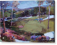 Acrylic Print featuring the painting Hill Country by Diane Ursin