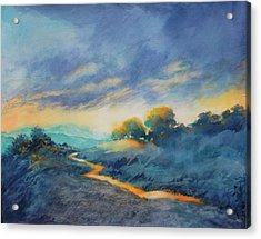 Hill Country Morning Breaks No 2 Acrylic Print by Virgil Carter