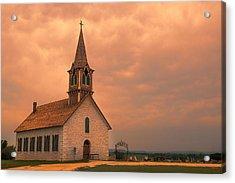 Hill Country Sunset - St Olafs Church Acrylic Print