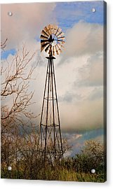 Acrylic Print featuring the photograph Hill Country Windmill by Michael Flood