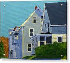 Hill Houses Acrylic Print by Laurie Breton