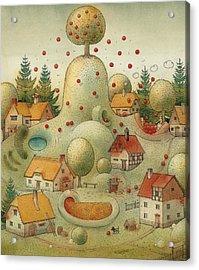 Hill Acrylic Print by Kestutis Kasparavicius