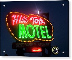 Acrylic Print featuring the photograph Hill Top Motel by Matthew Bamberg