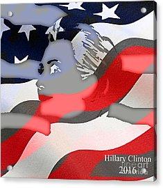 Hillary Clinton 2016 Collection Acrylic Print