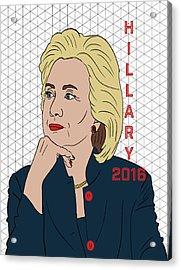 Hillary Clinton 2016 Acrylic Print by Nicole Wilson