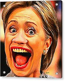 Hillary Clinton Acrylic Print by Anthony Caruso