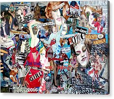 Hillary Clinton Get Well/campaign Poster Acrylic Print by Barb Greene Mann
