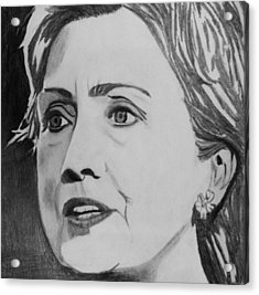 Hillary Clinton Acrylic Print by Kenneth Regan