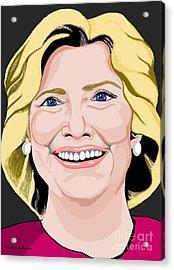 Hillary Clinton Acrylic Print by Richard Heyman