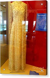 Hillary Clinton State Dinner Gown Acrylic Print by Randall Weidner