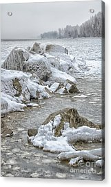 North Beach On A Winters Day By Dave Acrylic Print