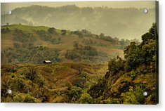 Hills Above Anderson Valley Acrylic Print by Josephine Buschman