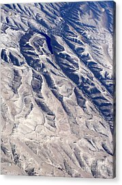 Hills And Valleys Aerial Acrylic Print by Carol Groenen