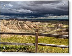 Hills Behind The Fence Acrylic Print