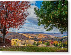 Hills Of Autumn Acrylic Print