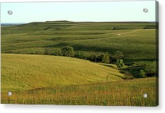 Acrylic Print featuring the photograph Hills Of Kansas by Thomas Bomstad