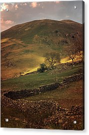 Hills Of Scotland At The Sunset Acrylic Print by Jaroslaw Blaminsky