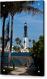 Hillsboro Inlet Lighthouse And Park Acrylic Print