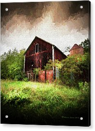 Hillside Barn Acrylic Print by Marvin Spates