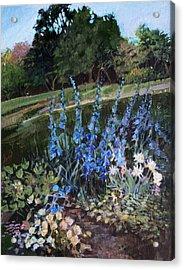 Hillside Garden Acrylic Print by Diane Ursin