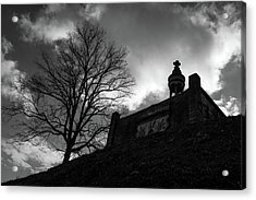 Acrylic Print featuring the photograph Hilltop Memorial  by James L Bartlett