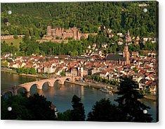 Hilltop View - Heidelberg Castle Acrylic Print by Greg Dale