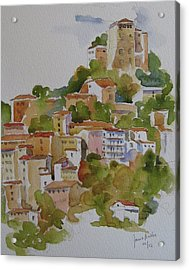 Hilltop Villege, Umbria Acrylic Print by Janet Butler