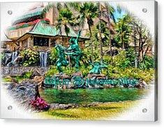 Hilton Hawaiian Village Waikiki Beach Resort Acrylic Print