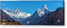 Acrylic Print featuring the photograph Himalayan Peaks En Route To Base Camp by Owen Weber