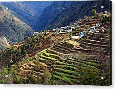 Himalayan Terraced Fields Acrylic Print