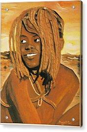 Himba Girl Acrylic Print by Desenclos Patrick