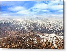 Hindu Kush Snowy Peaks Acrylic Print