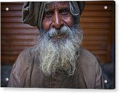 Hindu Man Acrylic Print by David Longstreath
