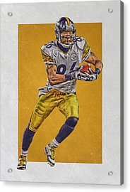 Hines Ward Pittsburgh Steelers Art Acrylic Print by Joe Hamilton